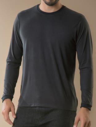 Camiseta Masculina PLus Size Manga Longa
