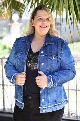 Jaqueta Feminina Plus Size Jeans