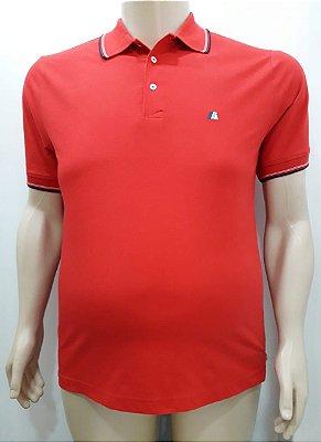 Camiseta Masculino Plus Size Polo Piquet Vermelha