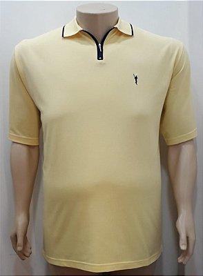 Camiseta Masculino Plus Size Polo Piquet Vanila