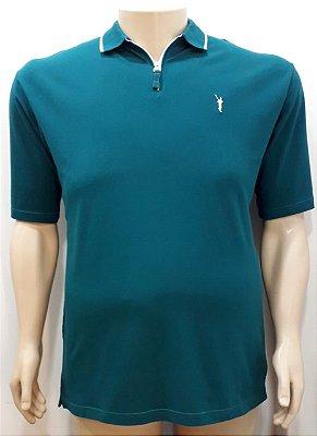 Camiseta Masculino Plus Size Polo Piquet Verde