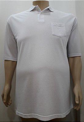 Camiseta Masculino Plus Size Polo Piquet Branca