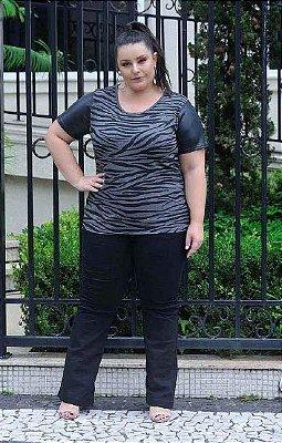 Blusa Feminina Plus Size com Estampa