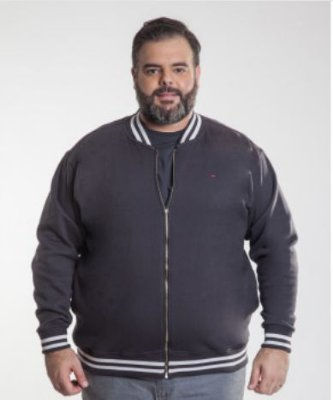 Blusa Masculino Plus Size Moletom Ton Sur Ton