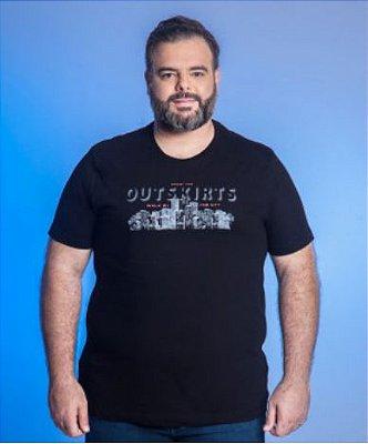 Camiseta Masculino Plus Size Gola Careca