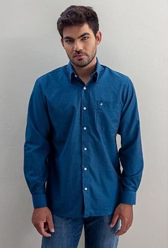 Camisa Masculino Plus Size Manga Longa Maquinetada HP