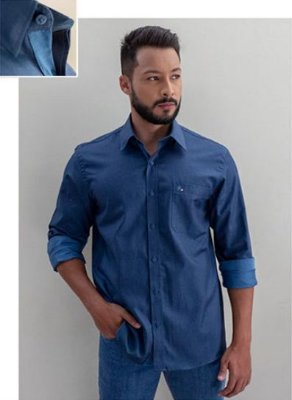 Camisa Masculino Plus Size Manga Longa HP Premium
