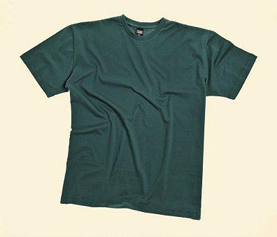 Camiseta Masculino Plus Size Gola Careca Lisa Verde Militar We