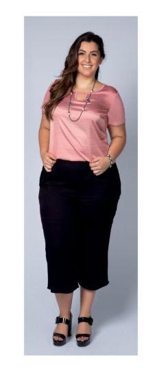 Blusa Feminina Plus Size Acetinada Cativa