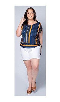 Blusa Feminina Plus Size Nozinho na Barra Cativa