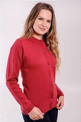 Casaco Feminino Plus Size Malha