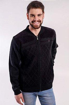 Casaco Masculino Plus Size Malha com Ziper