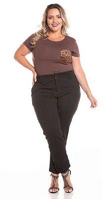 Blusa Feminina Plus Size T Shirt Animal Print
