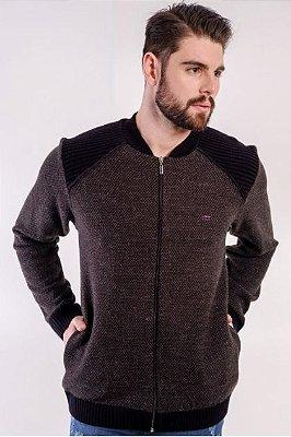 Jaqueta Masculina Plus Size Malha
