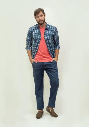 Calça Masculina Plus Size Jeans Bolso Faca