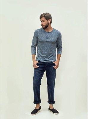 Calça Masculina Plus Size Regular com Elastano Jeans