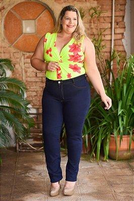 Calça Feminina Plus Size Skinny Básica