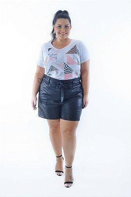 Blusa Feminina Plus Size Geometric