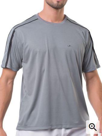 Camiseta Masculina Plus Size Gola Careca Lisa Dry