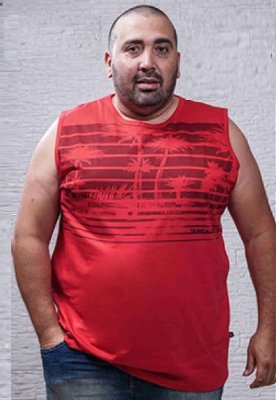 Regata Masculina Plus Size Machão Estampada