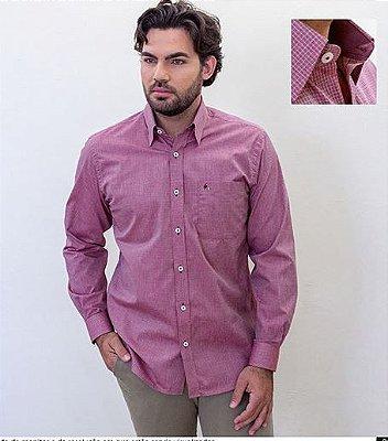 Camisa Masculina Plus Size Premium Xadrez Manga Longa