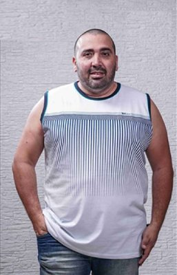 Regata Masculina Plus Size Machão Estampada
