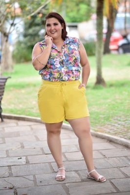 Shorts Feminino Plus Size