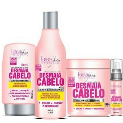 Forever liss - Desmaia Cabelo Kit Máscara 240G + Shampoo 500ML + Leave-in 150G + Sérum 60ML