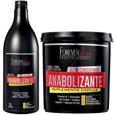 Forever liss Fortificante Capilar Kit Shampoo 1L e Máscara Ultra Concentrada 950G
