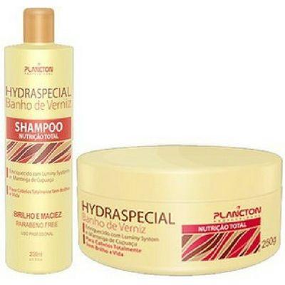 Plancton-Hydraspecial-Banho-de-Verniz-Kit-Shampoo-250ml-Máscara-250g