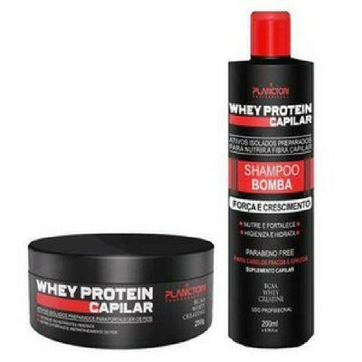 Planton Kit Whey Protein Capilar Shampoo e Máscara Bomba 250G