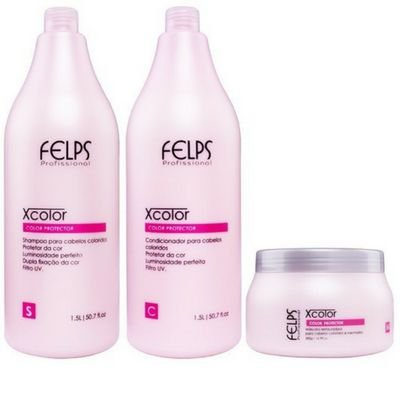 Felps kit Profissional Xcolor Protector 3 produtos