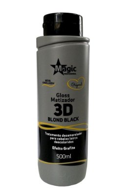 Magic Color - Gloss Matizador 3D Blond Black Grafite 500ML