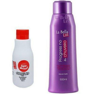 La Bella Liss- Liso Japa Shampoo que Alisa 100ML + Progressiva no Chuveiro 500ML
