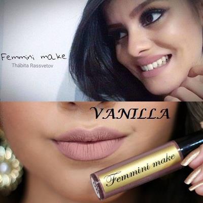 Batom Líquido Matte Femmini Make - Vanilla