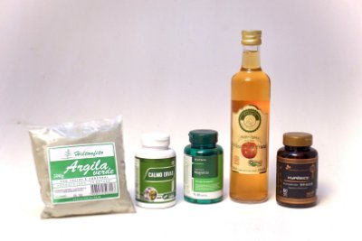 Kit Ansiedade - Argila + Calmo Ervas + Magnésio + Hyperico +Vinagre de Fruta Maçã