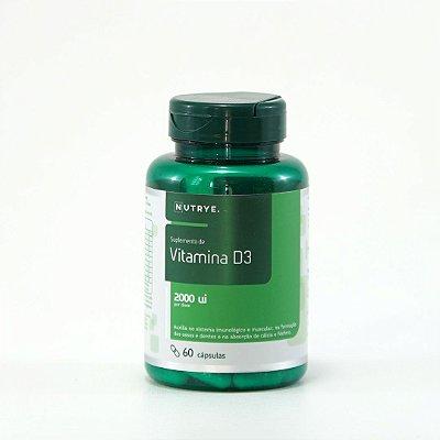VITAMINA D3 2000ui - 60 CAPS - NUTRYE