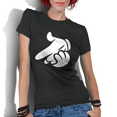 Camiseta Feminina Mãos Ao Alto Air Gun Nerd Geek Desenho Mickey Mouse Disney - Personalizadas/ Customizadas/ Estampadas/ Camiseteria/ Estamparia/ Estampar/ Personalizar/ Customizar/ Criar/ Camisa Blusas Baratas Modelos Legais Loja Online