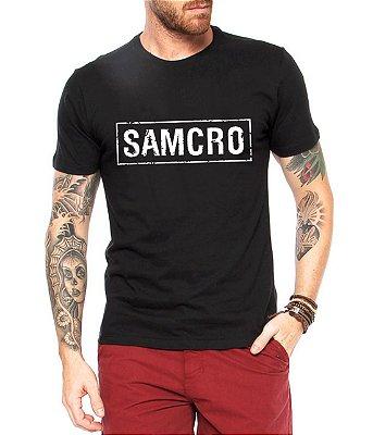 Camiseta Sons Of Anarchy SOA Samcro Masculina Séries e Seriados Estampadas Camiseteria Estamparia Estampar Personalizar Customizar Criar Camisa Blusas Baratas Modelos Legais Loja Online