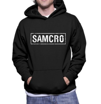 Moletom Sons of Anarchy SOA Samcro Masculino Séries Seriados - Moletons Blusa Casacos Baratos Blusão Jaqueta Canguru