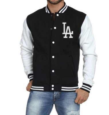 Jaqueta College Masculina Nfl Los Angeles Dodgers La - Jaquetas Colegial/ Americana/ Universitária/ Baseball/ de Frio/ Preto e Branco/ Personalizadas/ Blusas/ Casacos/ Blusão Baratos
