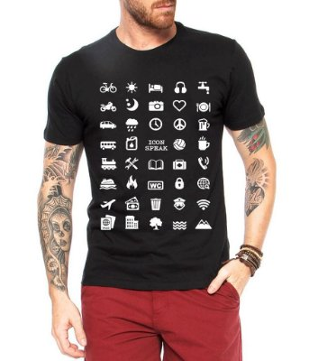 0a7cc2a2b Camiseta Masculina Viajante 40 Icon Speak - Personalizadas  Customizadas   Estampadas  Camiseteria  Estamparia