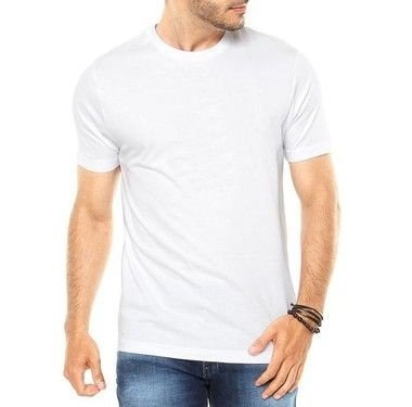 Camiseta Masculina Branca Lisa Básica- Personalizadas/ Customizadas/ Estampadas/ Camiseteria/ Estamparia/ Estampar/ Personalizar/ Customizar/ Criar/ Camisa Blusas Baratas Modelos Legais Loja Online