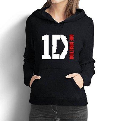 Moletom Feminino One Direction - Moletons Personalizados Blusa/ Casacos Baratos/ Blusão/ Jaqueta Canguru