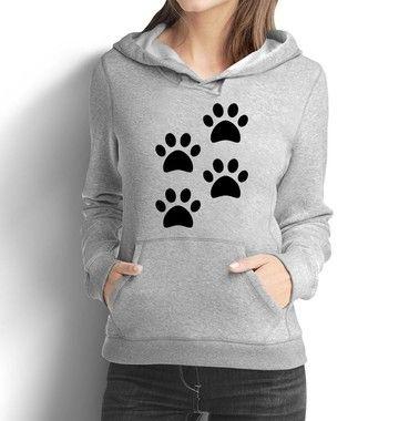 Moletom Feminino 4 Patas Love Pet - Moletons Personalizados Blusa/ Casacos Baratos/ Blusão/ Jaqueta Canguru