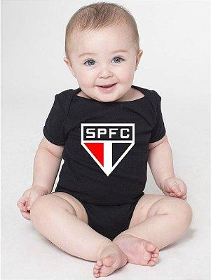 Body Bebê Times De futebol Spfc São Paulo - Roupinhas Macacão Infantil Bodies Roupa Manga Curta Menino Menina Personalizados
