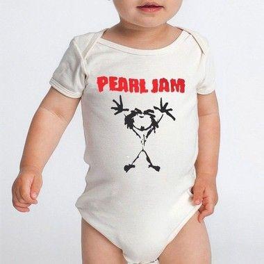 Body Bebê Bandas de Rock Pearl Jam- Roupinhas Macacão Infantil Bodies Roupa Manga Curta Menino Menina Personalizados