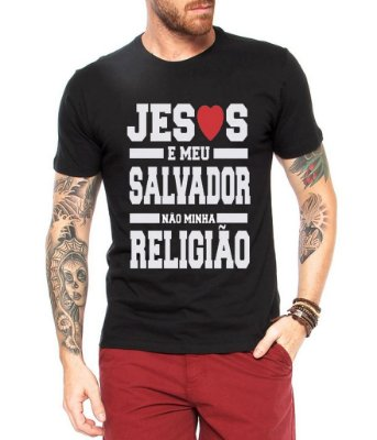 Camiseta Masculina Evangelica Moda Gospel Frases Salvador- Personalizadas/ Customizadas/ Estampadas/ Camiseteria/ Estamparia/ Estampar/ Personalizar/ Customizar/ Criar/ Camisa Blusas Baratas Modelos Legais Loja Online