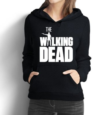 Moletom Feminino The Walking Dead Rick Grimes - Moletons Personalizados Blusa/ Casacos Baratos/ Blusão/ Jaqueta Canguru