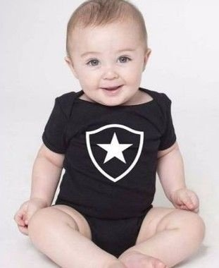 Body Bebê Times Futebol Botafogo Botafoguense- Roupinhas Macacão Infantil Bodies Roupa Manga Curta Menino Menina Personalizados